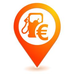 prix des carburants sur symbole localisation orange