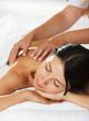 Women having a back massage