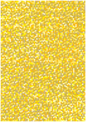 golden vector background with honeycombs