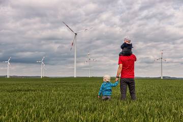 little Family and wind generators