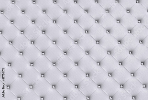 Deurstickers Stof the white texture of the skin quilted sofa