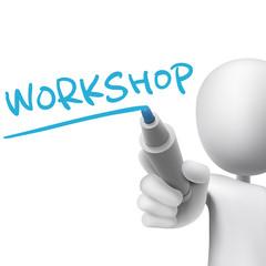 workshop word written by 3d man