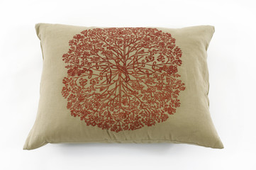 modern pillow with pattern isolated