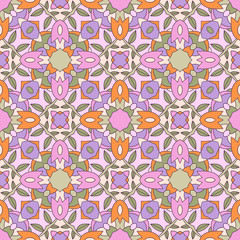 Seamless ornate geometric pattern, abstract background