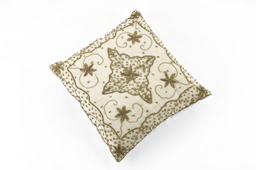 One modern pillow with pattern