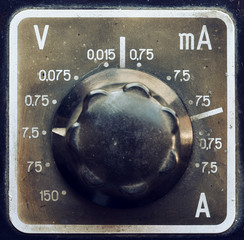 Old multimeter detail