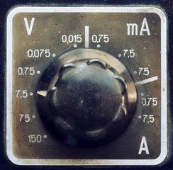 Old multimeter detail