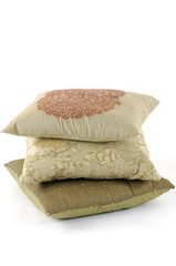 Three pillows stacked