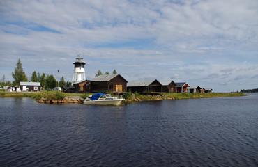 Port en Suède