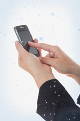 Composite image of hands using smart phone