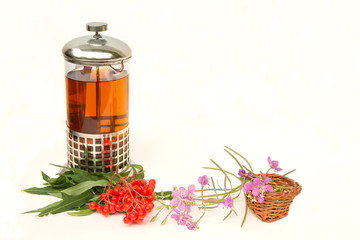 herbal tea of willow-herb