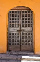 Wooden door. San Severo. Puglia. Italy.