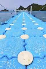 asia  kho phangan pier lomprayah  bay d and south china sea