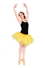 Ballerina with yellow tutu.