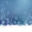 Weihnachten Hintergrund in blau mit Eisblumen