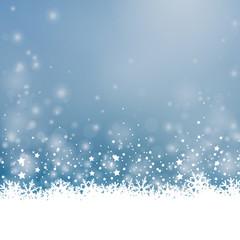 Weihnachten Blau Weiß Schnee glitzern