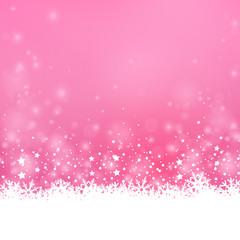 Weihnachten Hintergrund mit Schnee und glitzernden sternen