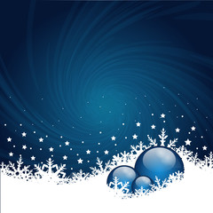 Christmas decoration in blue
