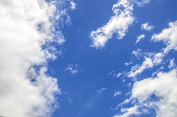 Bright blue beautiful clouds