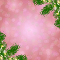 vector Christmas decoration in pink