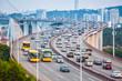 busy traffic closeup on the bridge - 69754851