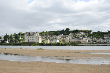 Montsoreau with the Castle on the Loire