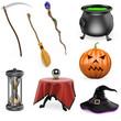 3D halloween set
