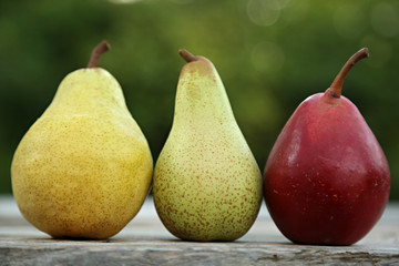 Different kind of pears