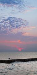 Sonnenuntergang über der Ostsee, Mecklenburg-Vorpommern