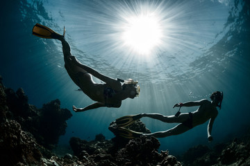 Free divers