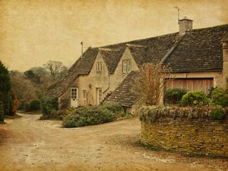 Old  house in Bibury, Gloucestershire, England, UK.