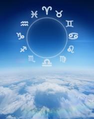 Composite image of zodiac chart