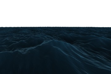 Digitally generated graphic Rough blue ocean