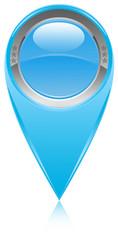 icône bouton bleu épingle pointe marqueur carte