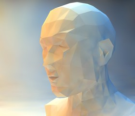 3D stylized man head