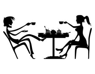Vector illustration. Conversation.