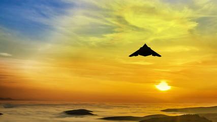4K Stealth F117 Nighthawk air attack