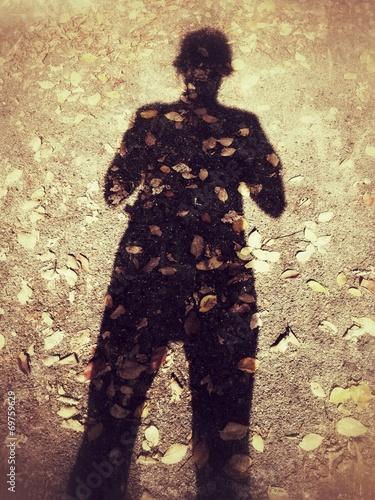 canvas print picture Herbstschatten