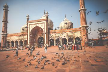 Jama Masjid Mosque, old Delhi, India.