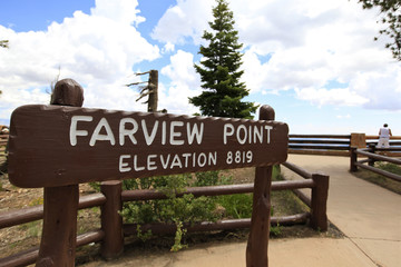 panneau fairview point à bryce canyon