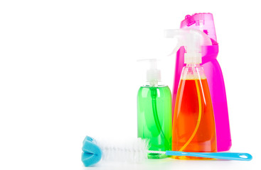 reinigungsflaschen mit textfreiraum
