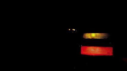 Car Flashing Light at night Stock Video