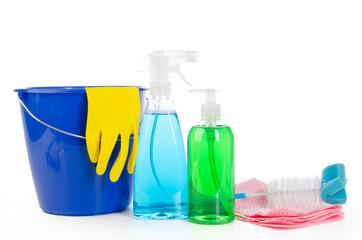 reinigungsmittel mit eimer und spülbürste