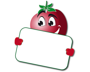 Funny tomato with poster