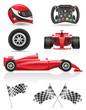 set racing icons vector illustration EPS 10 - 69760874
