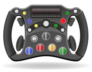 steering wheel of racing car vector illustration EPS 10