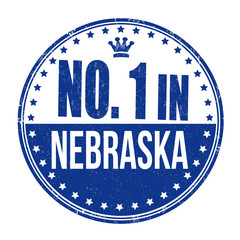 Number one in Nebraska stamp