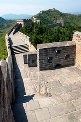 View of Great Wall of China located in Hebei province