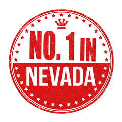 Number one in Nevada stamp