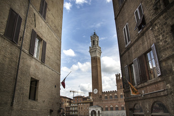 torre del Mangia, Siena, Italia